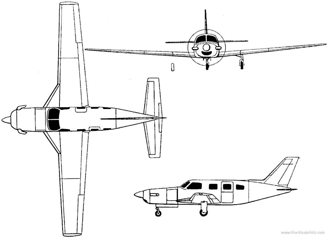 Blueprints Gt Modern Airplanes Gt Piper Gt Piper Pa 46 500tp