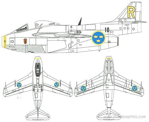 SAAB J 29E Tunnan