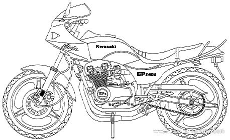 Kawasaki GPZ400 Custom