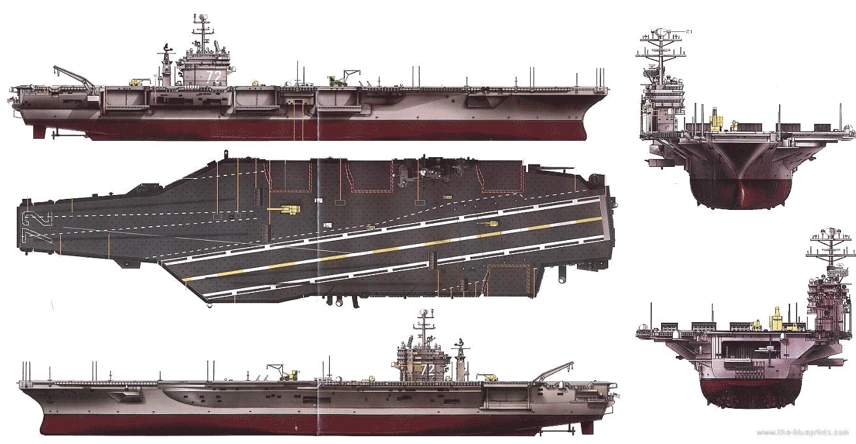 Blueprints Gt Ships Gt Carriers Us Gt Uss Cvn 72 Abraham