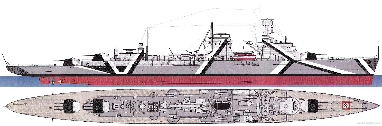 Dr Rost N Rnberg the blueprints com blueprints gt ships gt cruisers germany gt dkm nurnberg 1941 light cruiser