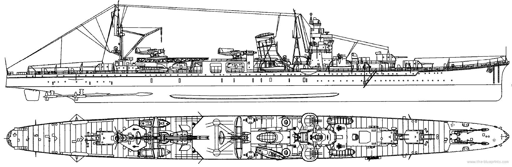 Agano Japan  city images : ... Blueprints > Ships > Cruisers Japan > IJN Agano 1943 [Light Cruiser