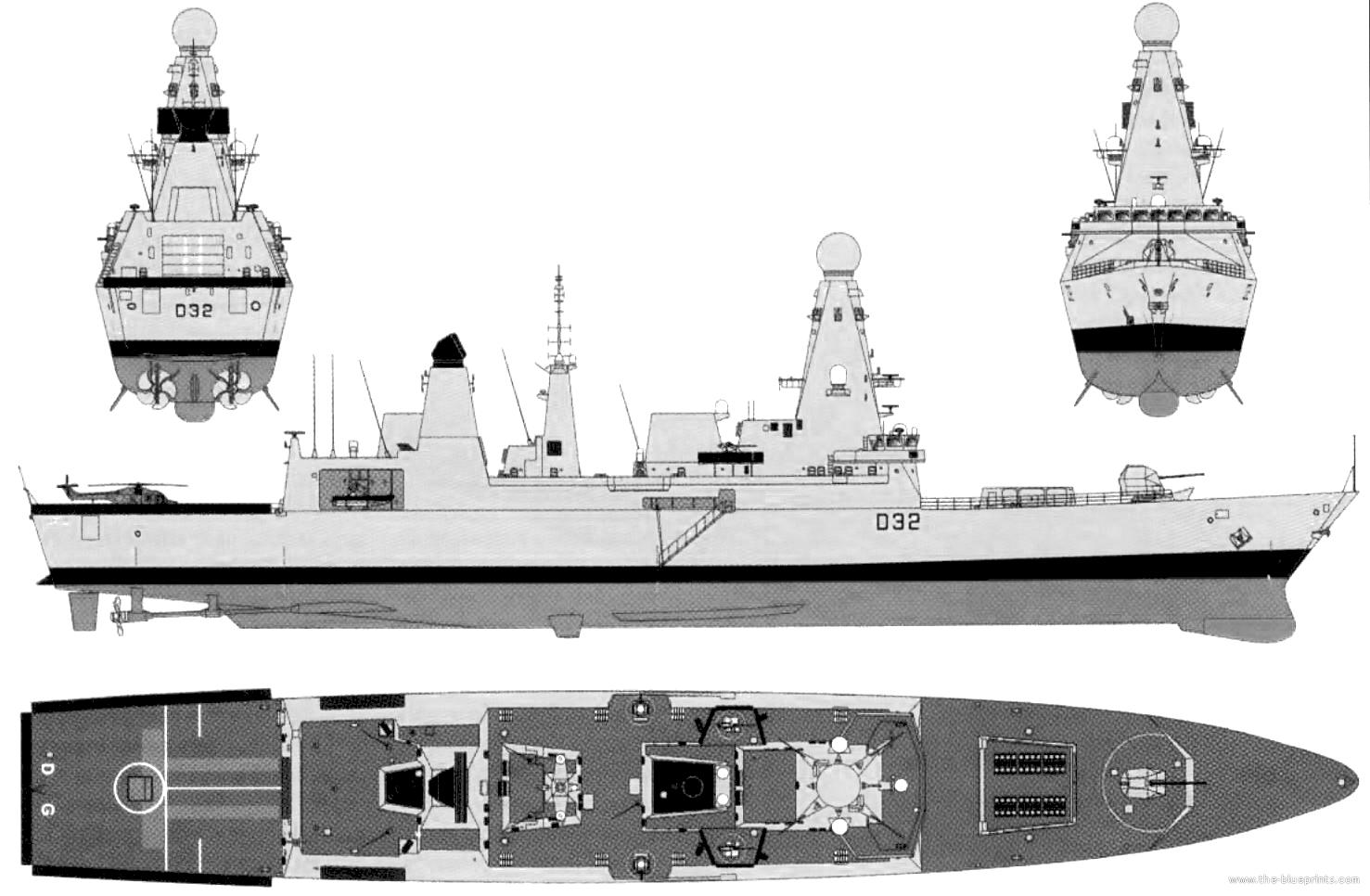 Blueprints Gt Ships Gt Destroyers Uk Gt Hms Daring D32
