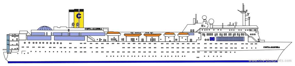 Cruise Ship Blueprints : Blueprints gt ships other ss costa allegra