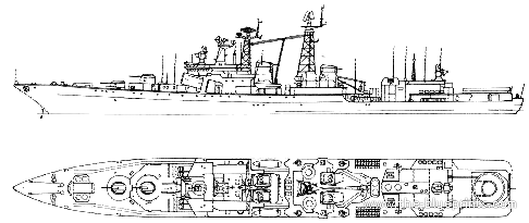USSR Project 1155.1 Fregat Udaloy II Admiral Chabanenko-class Large Anti-Submarine Ship