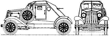 D-8 (Dyrenkov-8) Armoured Car (1932)