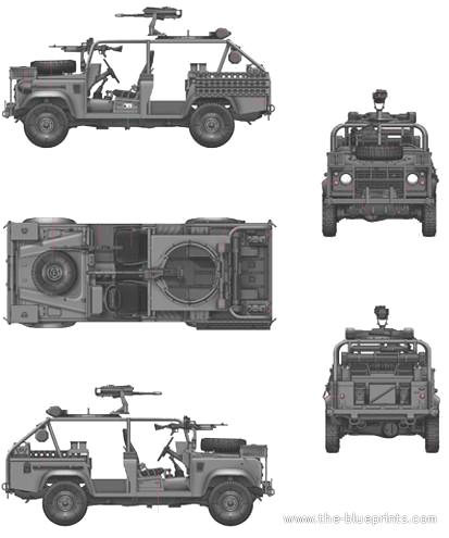 Military Vehicles For Sale >> Blueprints > Tanks > Tanks K-L > Land Rover RSOV