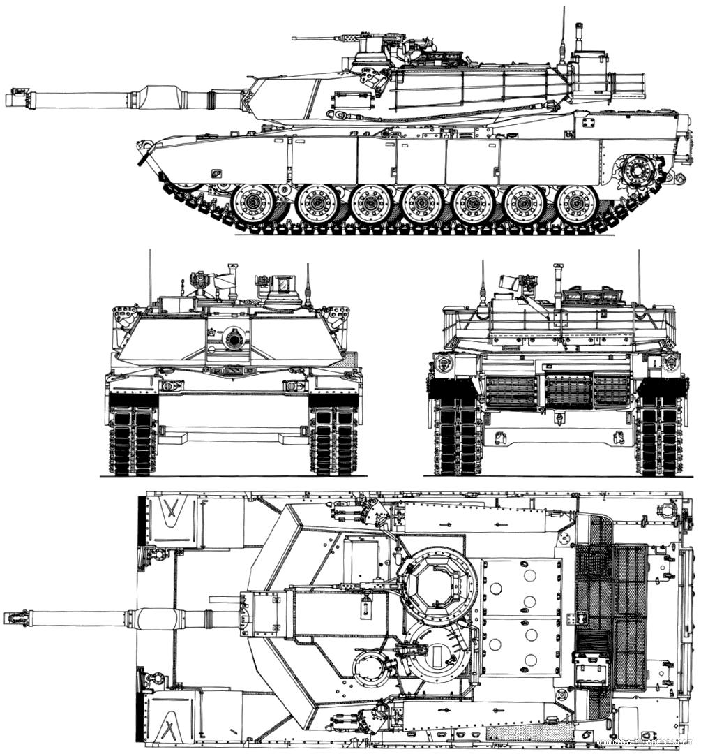 Blueprints Gt Tanks Gt Tanks M Gt M1a2 Sep Abrams