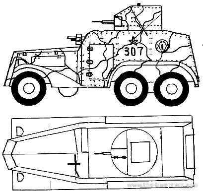 Manchukuo Type 93 Armored Car