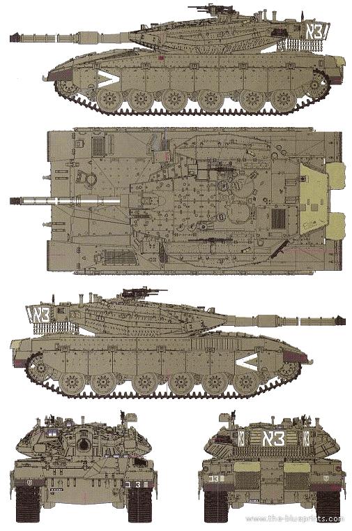 Submit Vat Online >> Blueprints > Tanks > Tanks Ma-Mz > Merkava Mk.III D