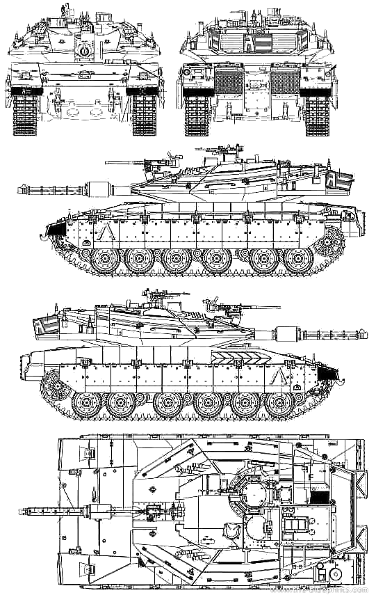 Blueprints gt Tanks gt Tanks Ma Mz gt Merkava Mk IV LIC