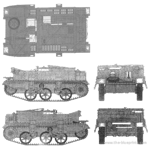 Universal Carrier I Mk II Mortar Carrier