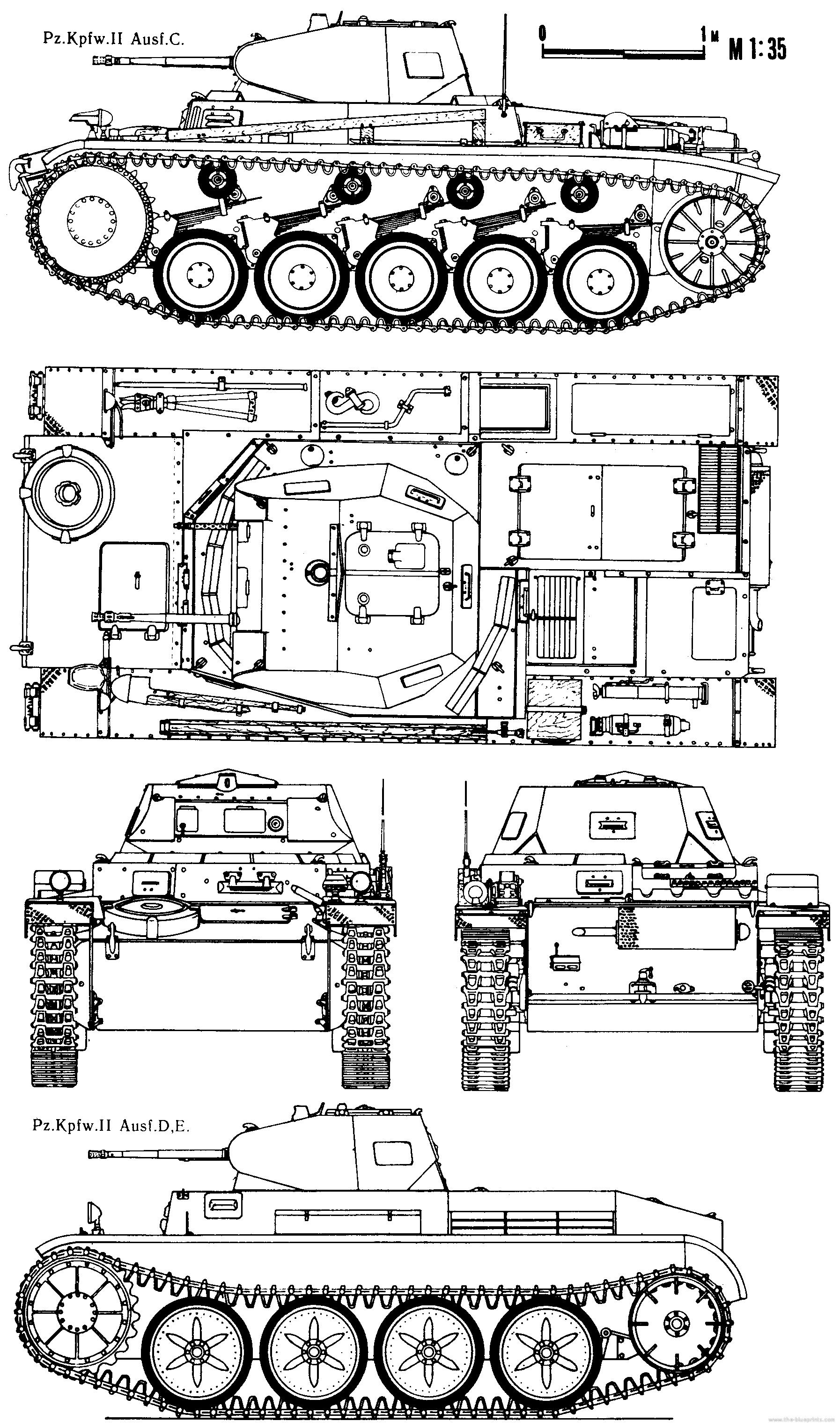 Pz C Puertas Exterior: Blueprints > Tanks > WW2 Tanks (Germany, 1) > Pz.Kpfw. II