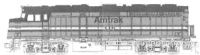 F40PH Amtrak No.376