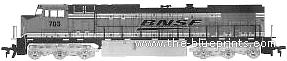GE C44-9W BNSF