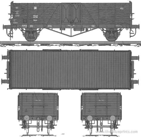 High Freight Wagon Biaxial Type