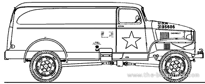 Chevrolet G7105 Panel Delivery 1943