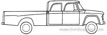 Dodge D200 Crew Cab 4x4 (1970)