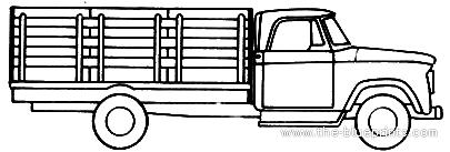 Dodge D300 Stake Truck (1970)