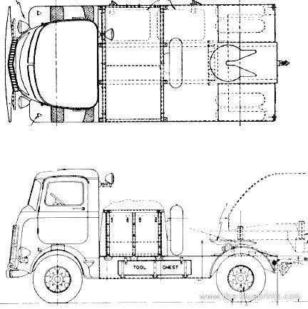 Mack NJU-1.5 25t Tractor