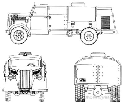 Opel Blitz Fuel Truck