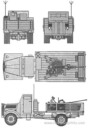 Opel Blitz Panzer +20mm Flak 38