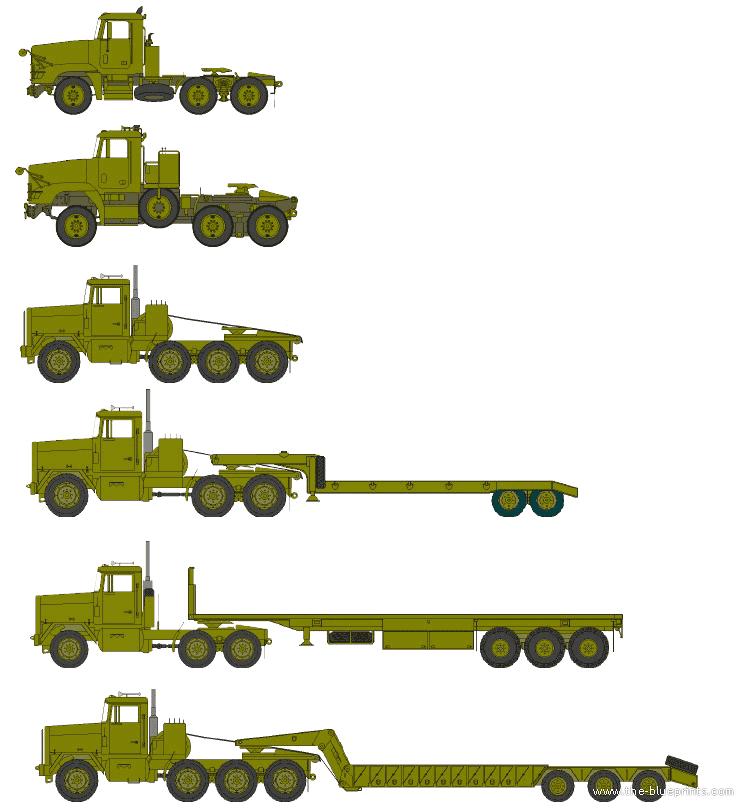 Blueprints > Trucks > Oshkosh > Oshkosh HET M1070 Truck ...