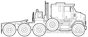 Oshkosh HET M1070 Truck Tractor