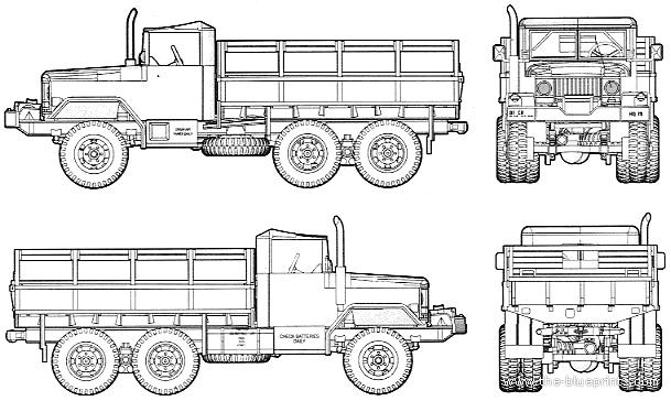 blueprints  u0026gt  trucks  u0026gt  trucks  u0026gt  am general m35 2 5t cargo truck