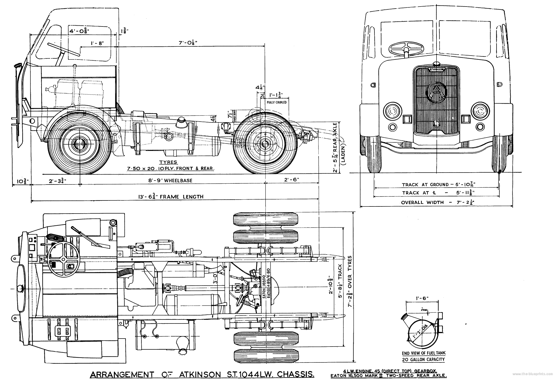 blueprints trucks trucks atkinson stlw tractor cab
