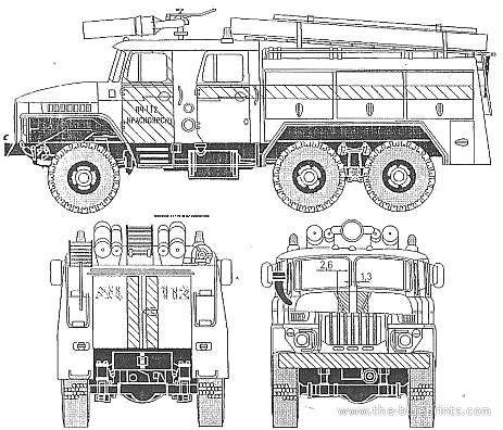 Ural-375 AU-40 Fire Tanker