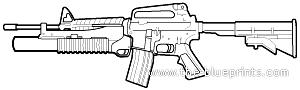 Colt M4 + M203A1 Grenade Launcher