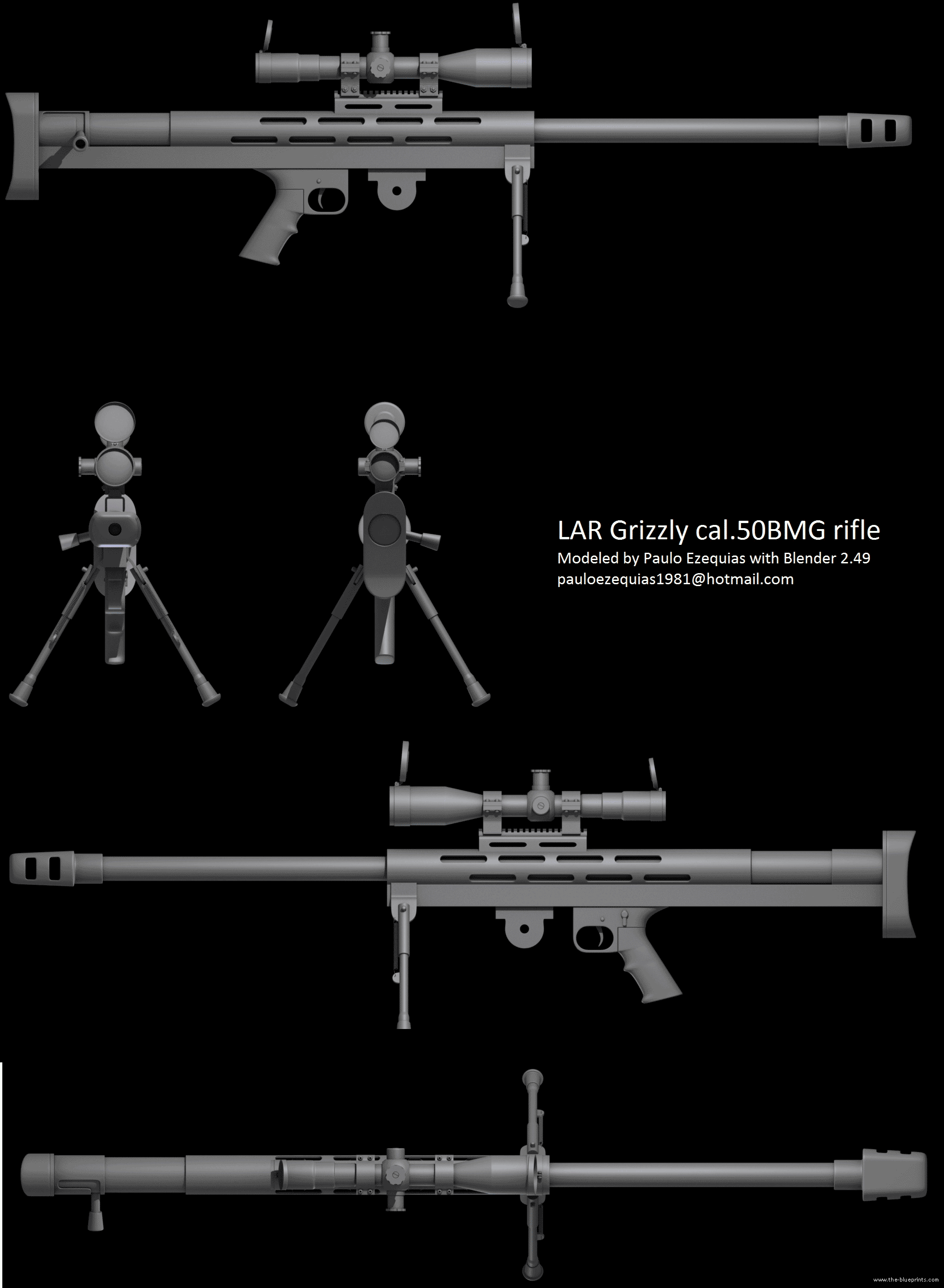 Submit Vat Online >> Blueprints > Weapons > Rifles > LAR Grizzly .50BMG Rifle