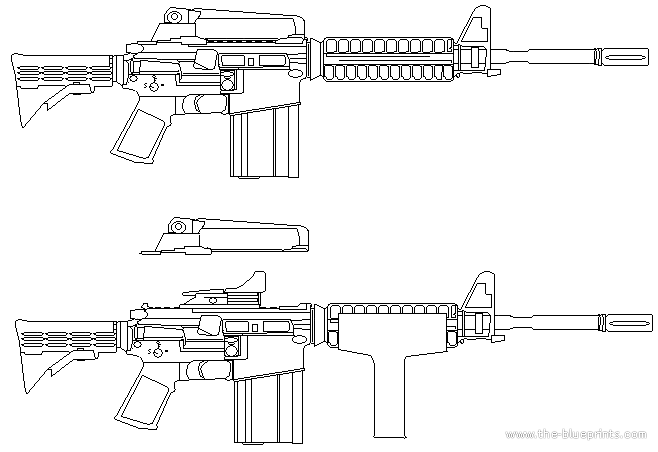 Blueprints Gt Weapons Gt Rifles Gt M4a1 By Bonardo