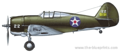 Curtiss P-36A Hawk