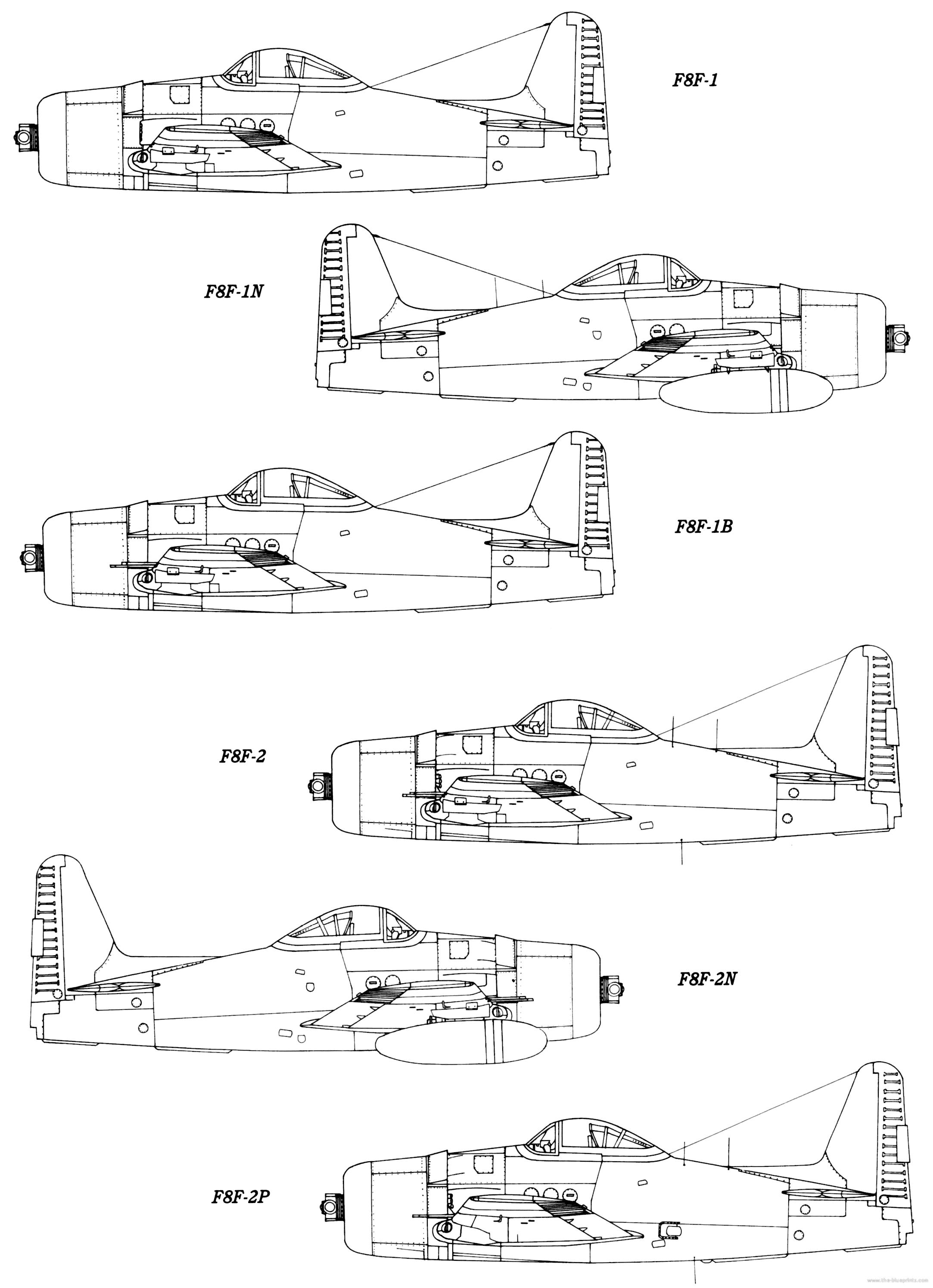 Submit Vat Online >> Blueprints > WW2 Airplanes > Grumman > Grumman F8F Bearcat
