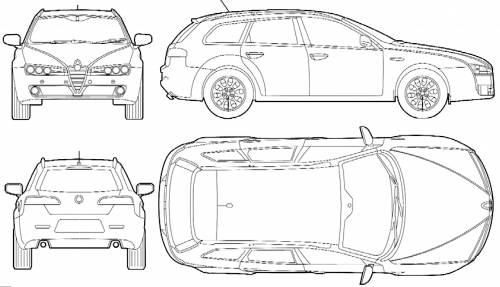 blueprints  u0026gt  cars  u0026gt  alfa romeo  u0026gt  alfa romeo 159 sportwagen