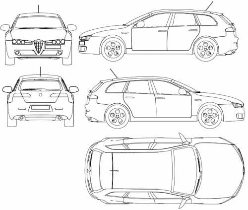 blueprints  u0026gt  cars  u0026gt  alfa romeo  u0026gt  alfa romeo 159 sw  2009