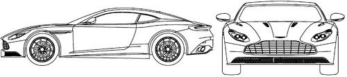 Blueprints Cars Aston Martin Aston Martin Db11 2017