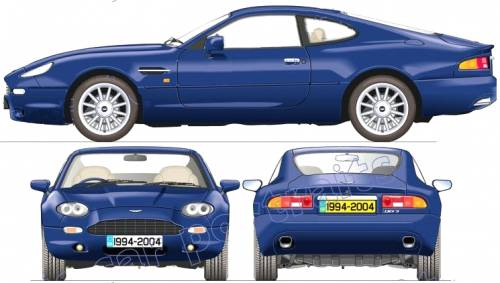 Blueprints Cars Aston Martin Aston Martin Db7 1994