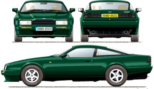 Blueprints Cars Aston Martin Aston Martin Virage 1990