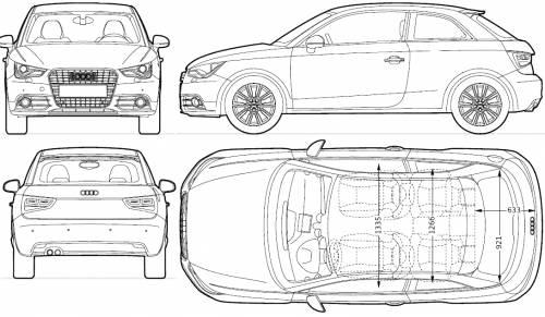 the blueprints cars audi audi a1 3 door 2010. Black Bedroom Furniture Sets. Home Design Ideas