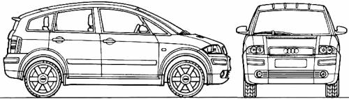 The-Blueprints.com - Blueprints > Cars > Audi > Audi A2 (