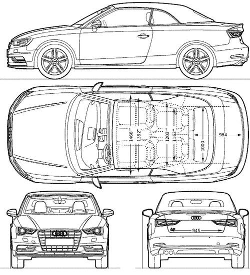 blueprints cars audi audi a3 cabriolet 2014. Black Bedroom Furniture Sets. Home Design Ideas
