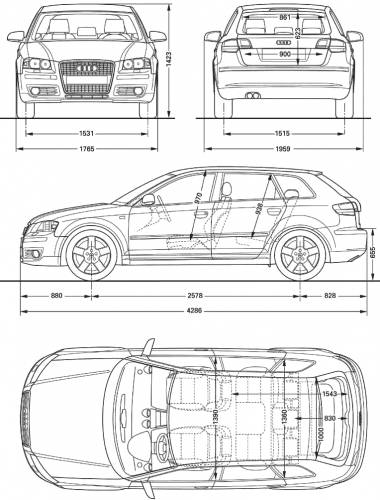the blueprints cars audi audi a3 sportback. Black Bedroom Furniture Sets. Home Design Ideas