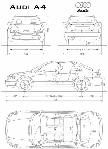 blueprints cars audi audi a4. Black Bedroom Furniture Sets. Home Design Ideas