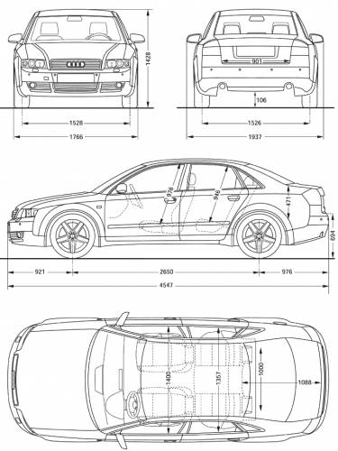 blueprints cars audi audi a4. Black Bedroom Furniture Sets. Home Design Ideas