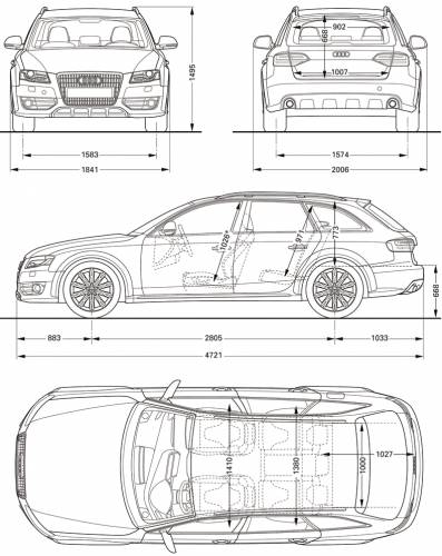 the blueprints cars audi audi a4. Black Bedroom Furniture Sets. Home Design Ideas
