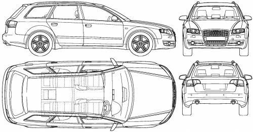 the blueprints cars audi audi a4 avant 2008. Black Bedroom Furniture Sets. Home Design Ideas