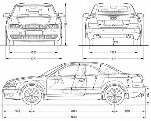 the blueprints cars audi audi a4 cabrio. Black Bedroom Furniture Sets. Home Design Ideas